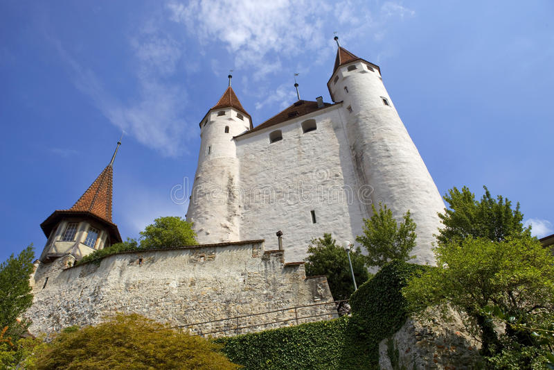 Thun城堡 免版税图库摄影