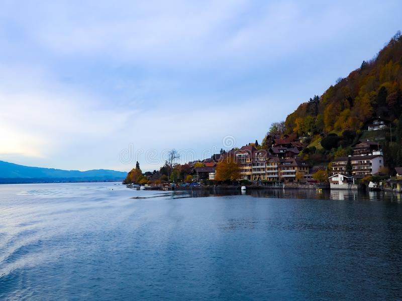 Thun See, die Schweiz lizenzfreie stockfotos