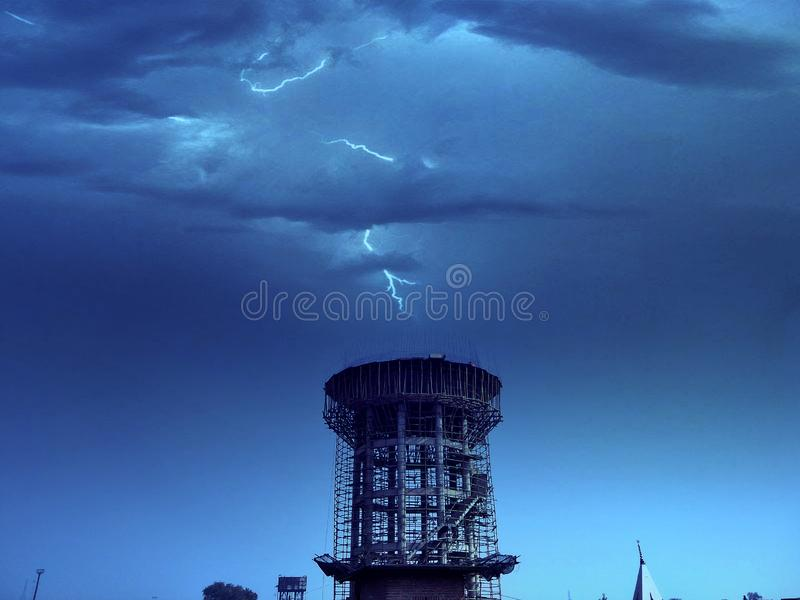 Thunder cloud royalty free stock photography