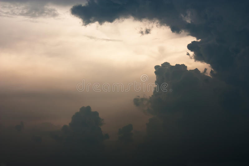 Thunder cloud The storm is coming. stock photo