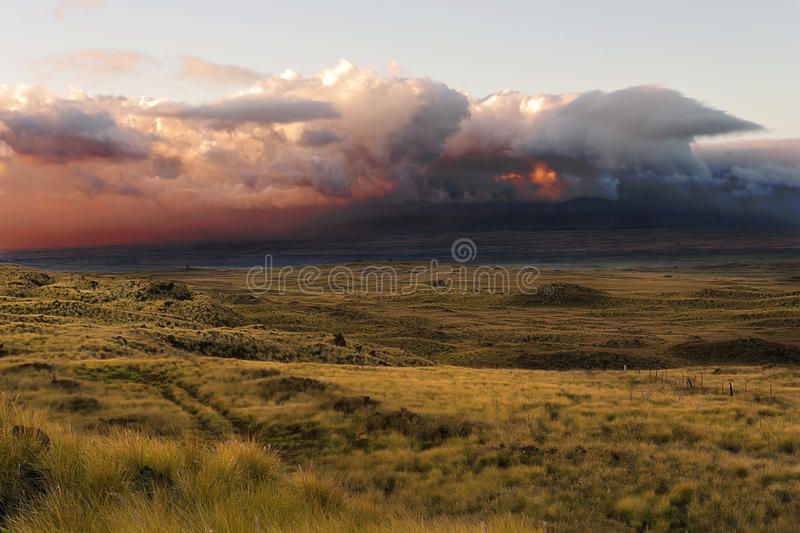 Thunder Clouds over the Big Island, Hawaii, USA royalty free stock images