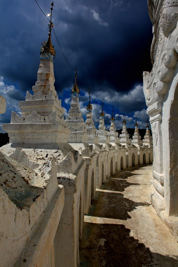 Thunder Clouds Over A Temple! Stock Photo