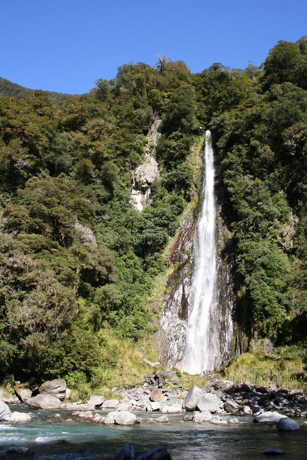 Download Thunder Creek waterfall stock image. Image of travel, river - 132255