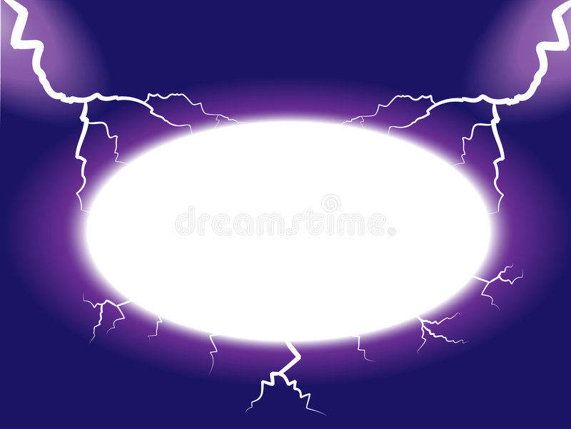 Download Thunder frame stock vector. Illustration of thunder, area - 7193115
