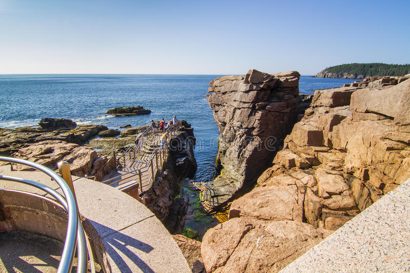 Thunder Holle In Acadia Editorial Stock Photo