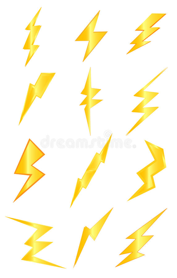 Thunder lightning stock illustration