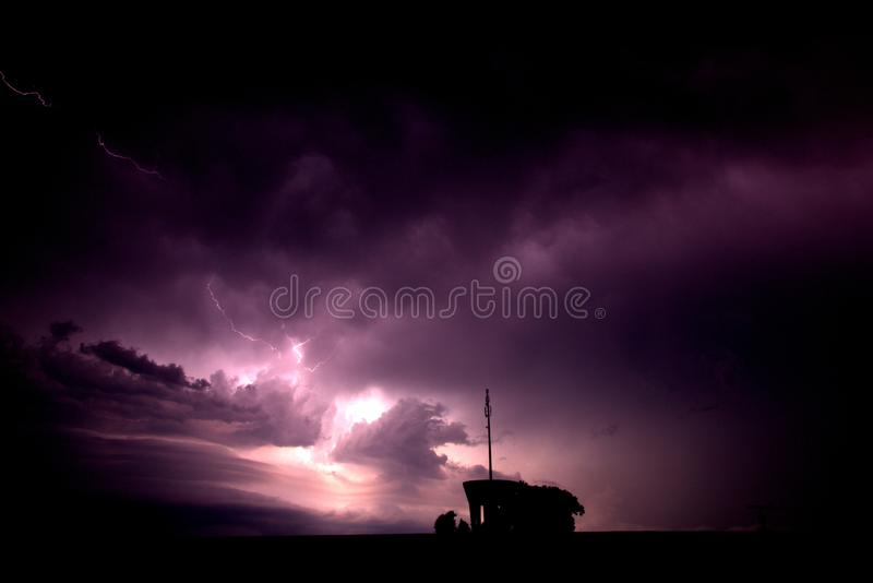 Thunder and lightning royalty free stock image
