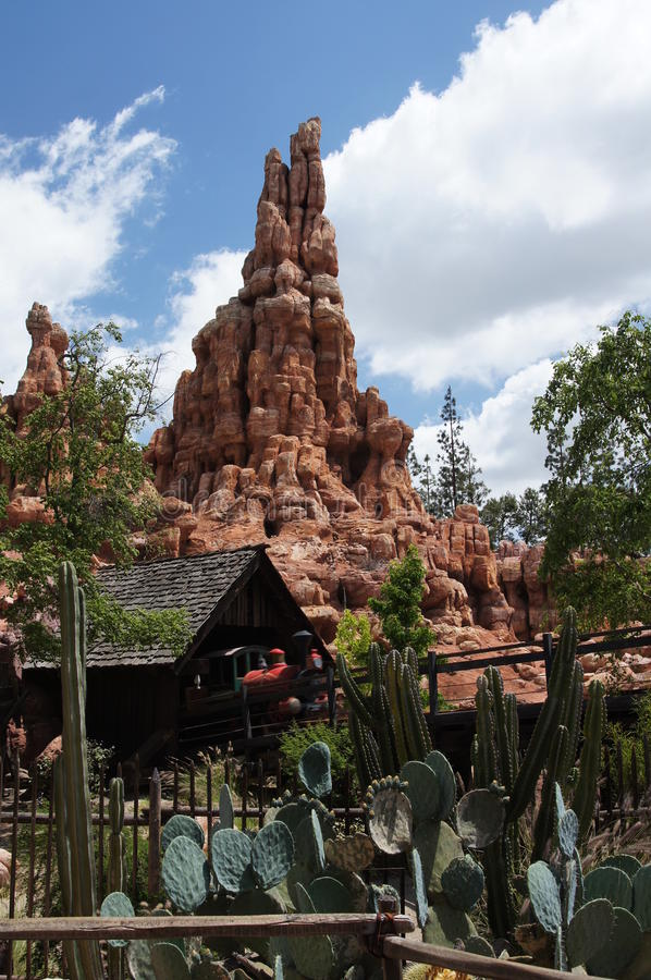 Thunder Mountain Ride at Disneyland royalty free stock images