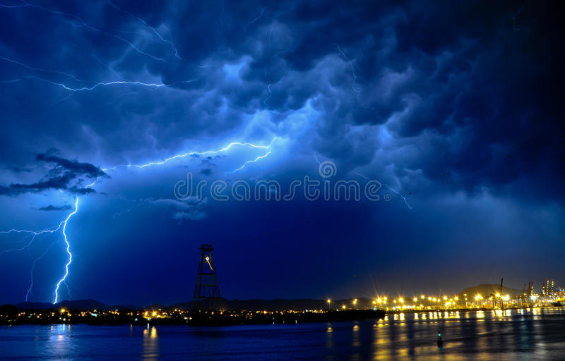 Download Thunder at sea stock photo. Image of danger, climate - 16703240