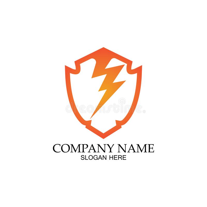 thunder shield vector logo template this graphic suitable for electric business vector stock illustration illustration of element template 170956469 dreamstime com
