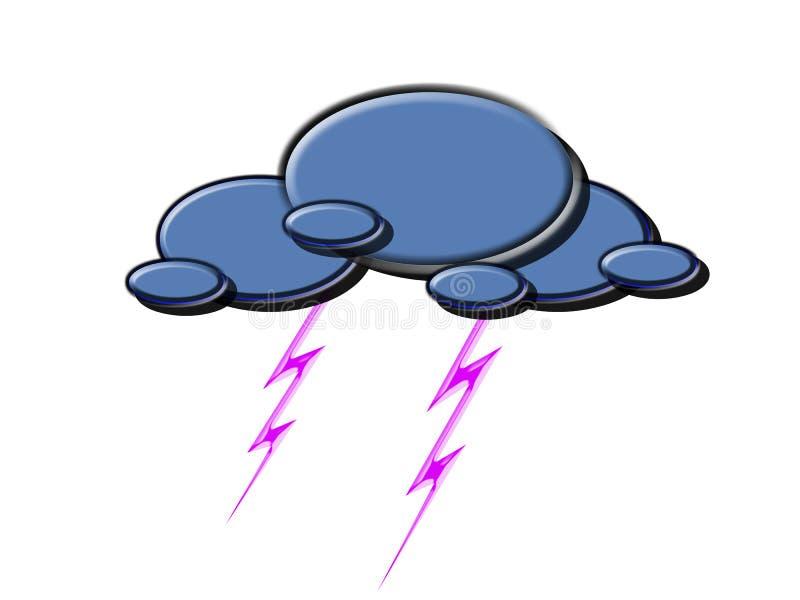 Download Thunder-storm stock illustration. Illustration of forecasting - 10118717