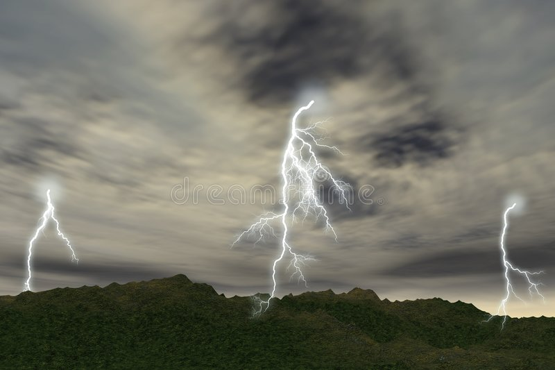 Thunder-storm stock images