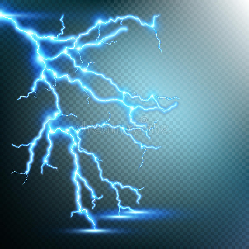 Free Thunder-storm And Lightnings. EPS 10 Royalty Free Stock Photography - 76794537
