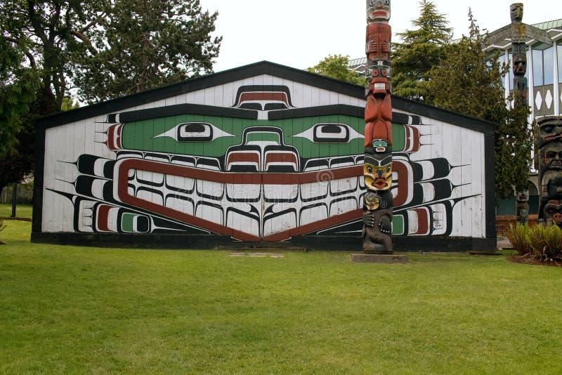 Thunderbird-Park, Victoria BC Kanada stockfotos