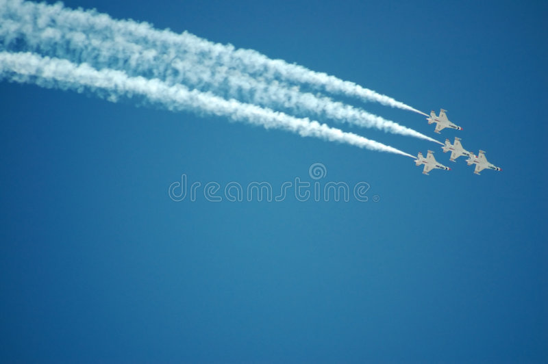 Thunderbirds da força aérea fotografia de stock royalty free