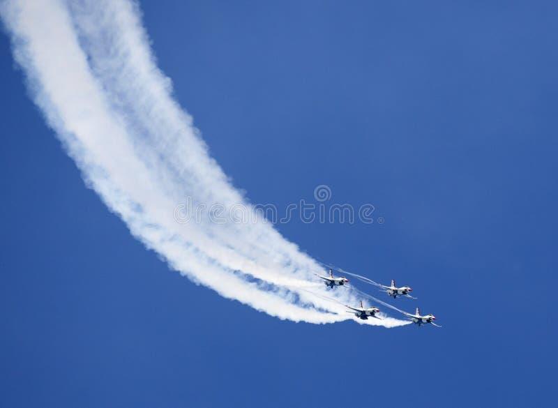 Thunderbirds da força aérea de E.U. fotos de stock