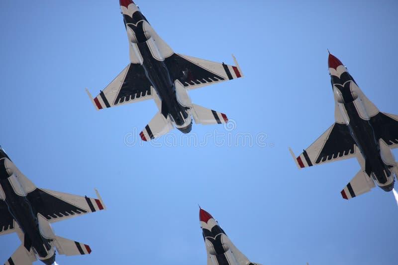 Thunderbirds da força aérea de Estados Unidos imagem de stock