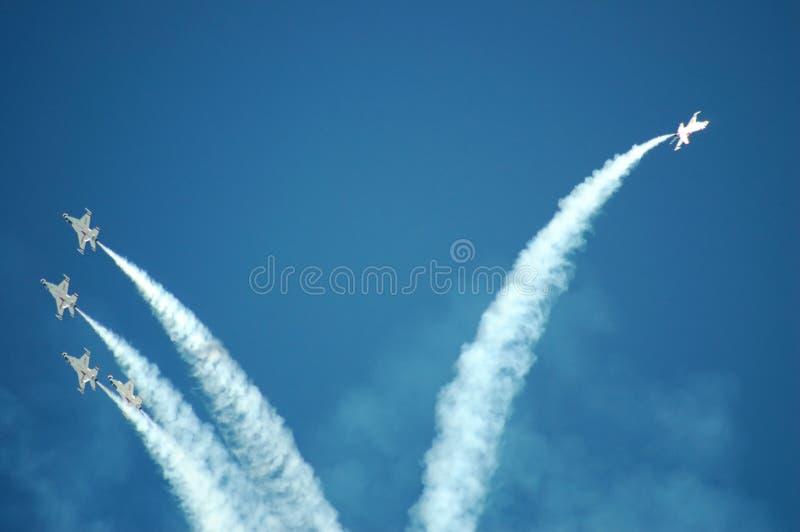 Thunderbirds de l'Armée de l'Air images stock
