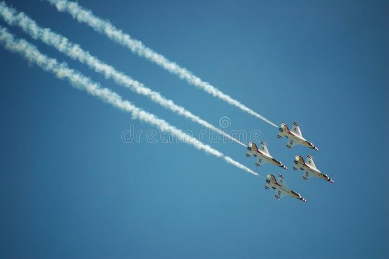 Thunderbirds de l'Armée de l'Air photos libres de droits