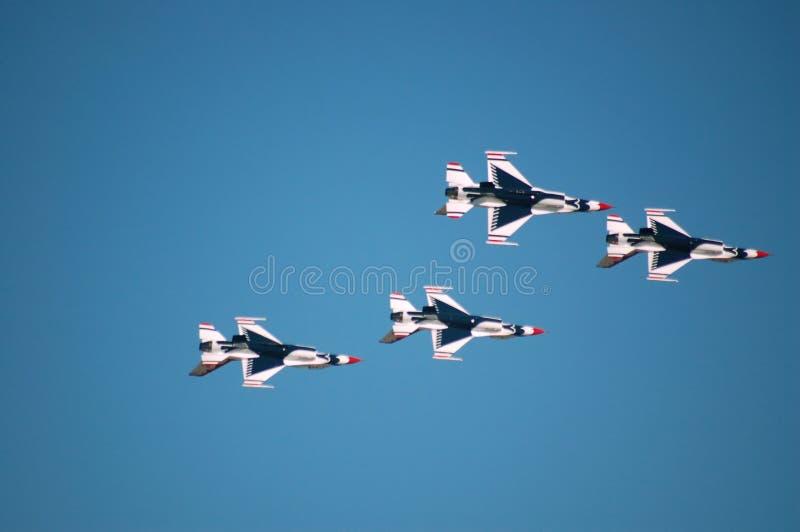 Thunderbirds de l'Armée de l'Air photo stock