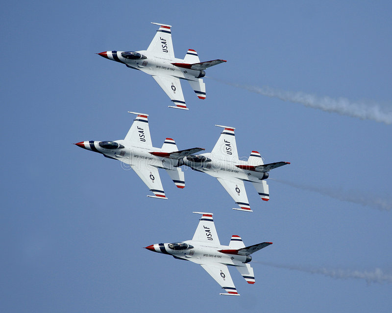 Thunderbirds de l'U.S. Air Force images stock