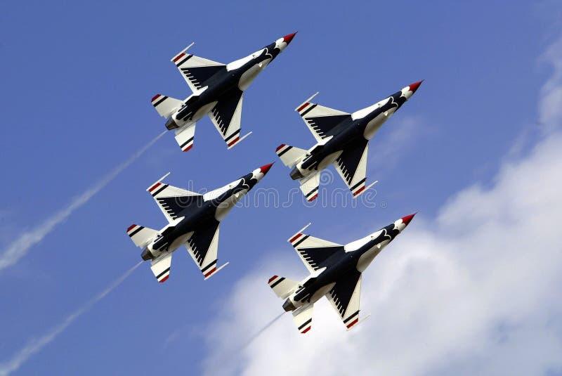 Thunderbirds de la fuerza aérea de los E.E.U.U. imagen de archivo