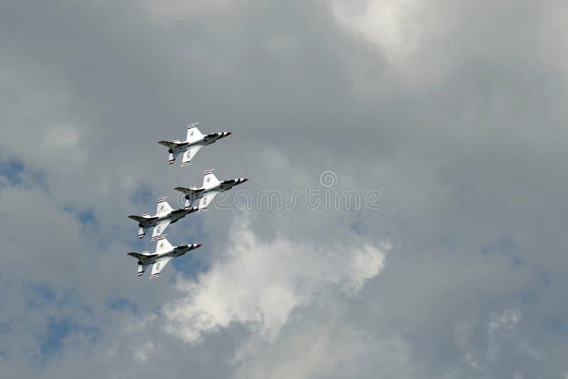Thunderbirds de la fuerza aérea imagen de archivo