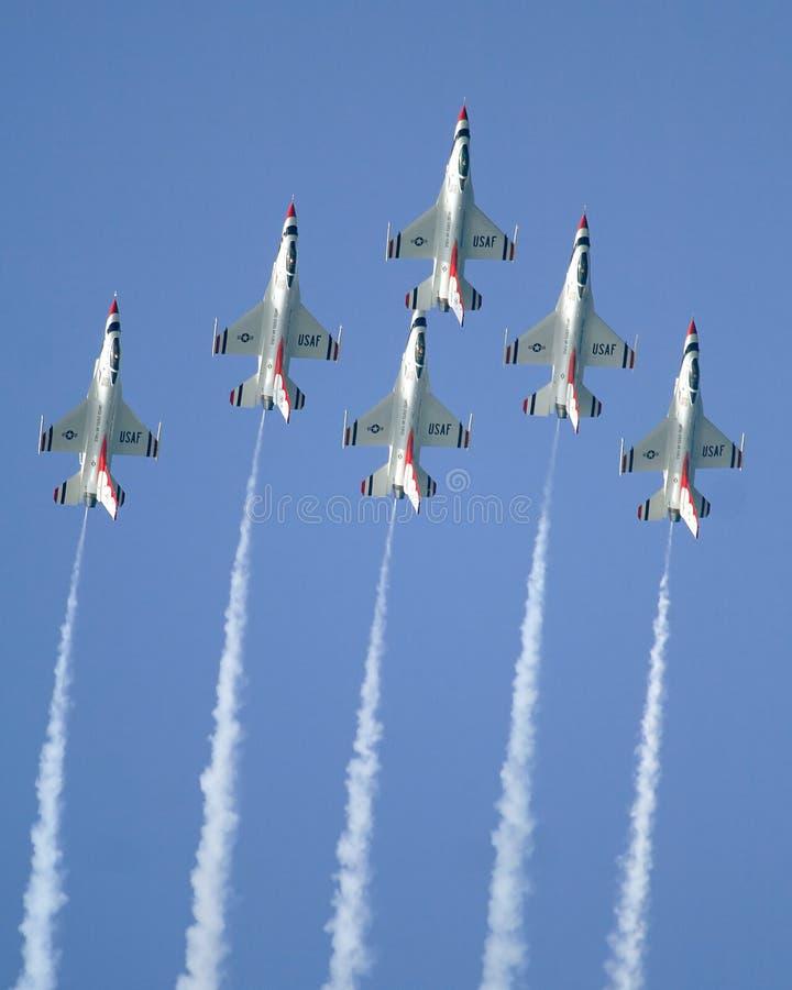 Thunderbirds del U.S.A.F. foto de archivo