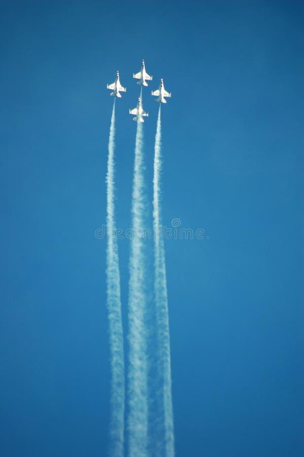 Thunderbirds dell'aeronautica immagini stock libere da diritti