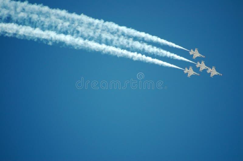 Thunderbirds dell'aeronautica fotografia stock libera da diritti