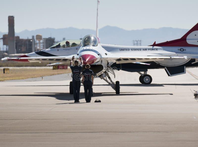 Thunderbirds dell'aeronautica di Stati Uniti fotografia stock libera da diritti