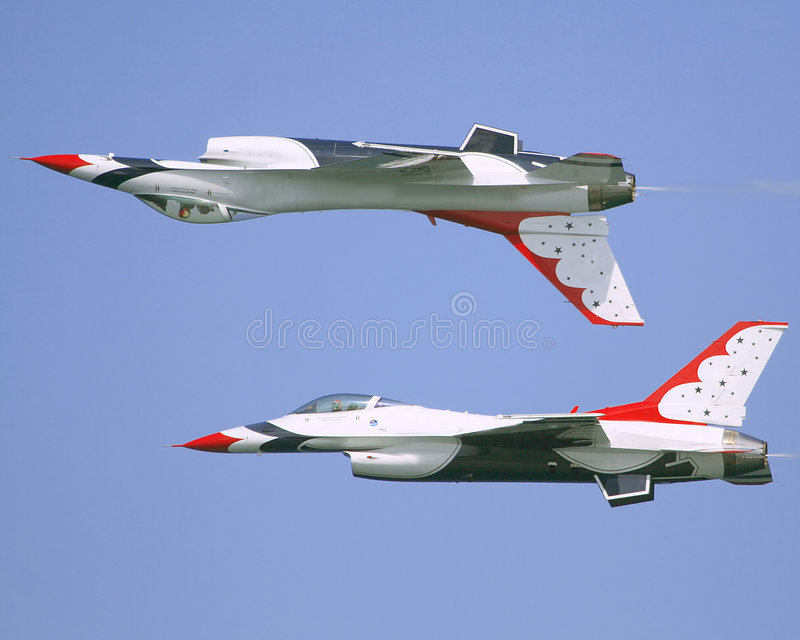 Thunderbirds do U.S.A.F. fotografia de stock