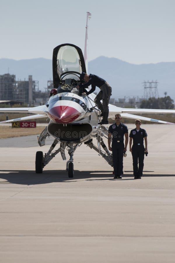 Thunderbirds för Förenta staternaflygvapen arkivbild