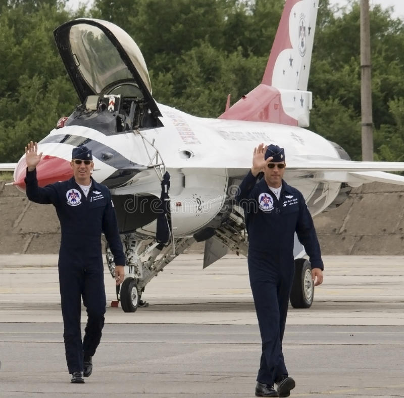 Thunderbirds flight crew royalty free stock photo