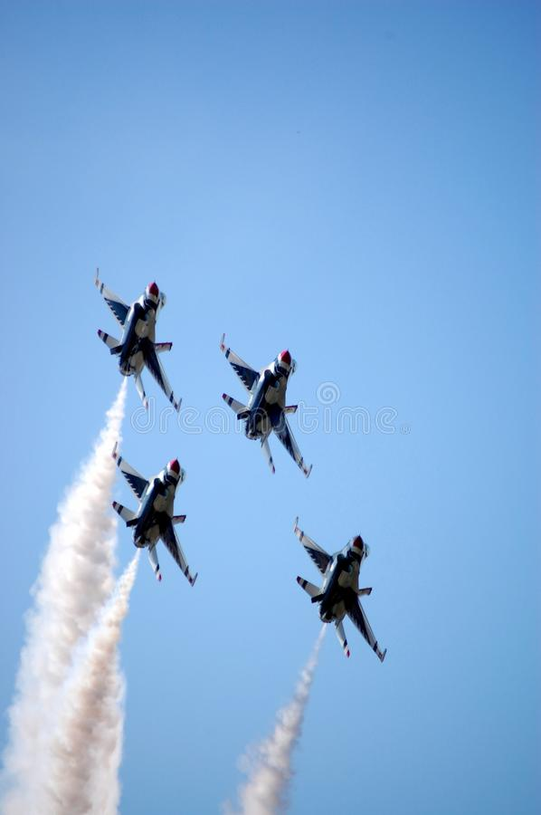 Download Thunderbirds in formation stock photo. Image of aerobatic - 10761662