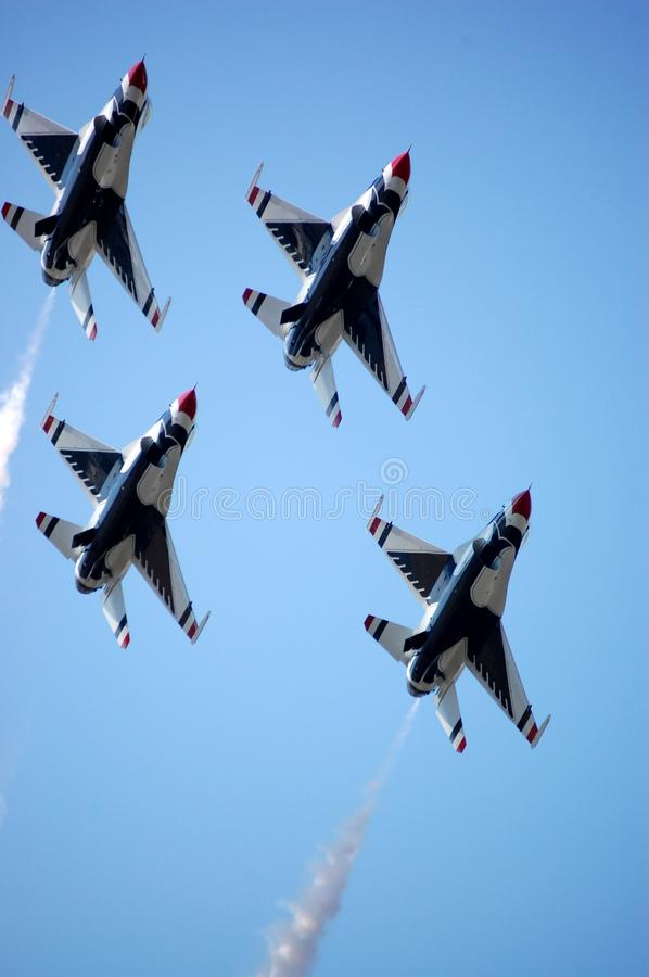 Thunderbirds In Formation Stock Images