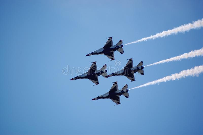 Download Thunderbirds in formation stock photo. Image of skill - 10761704