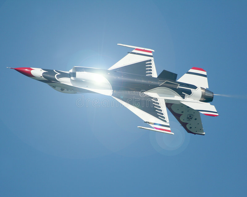Thunderbirds invertidos do U.S.A.F. fotografia de stock