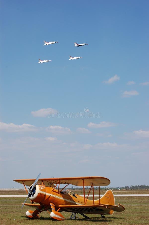 Thunderbirds over Waco royalty free stock photo
