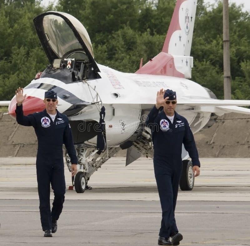 ThunderbirdsFlugzeugbesatzung lizenzfreies stockfoto