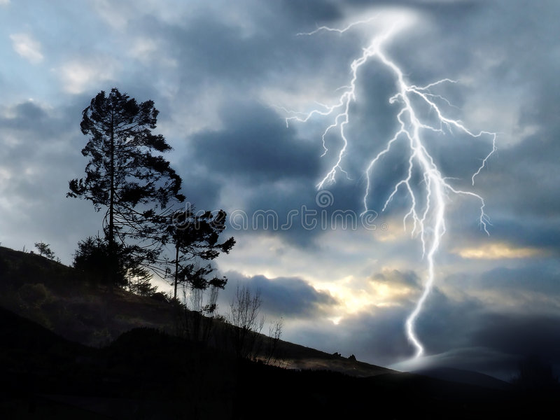 Thunderbolt lizenzfreie stockfotos