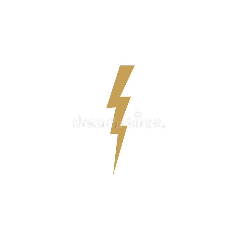 thunderbolt illustration stock