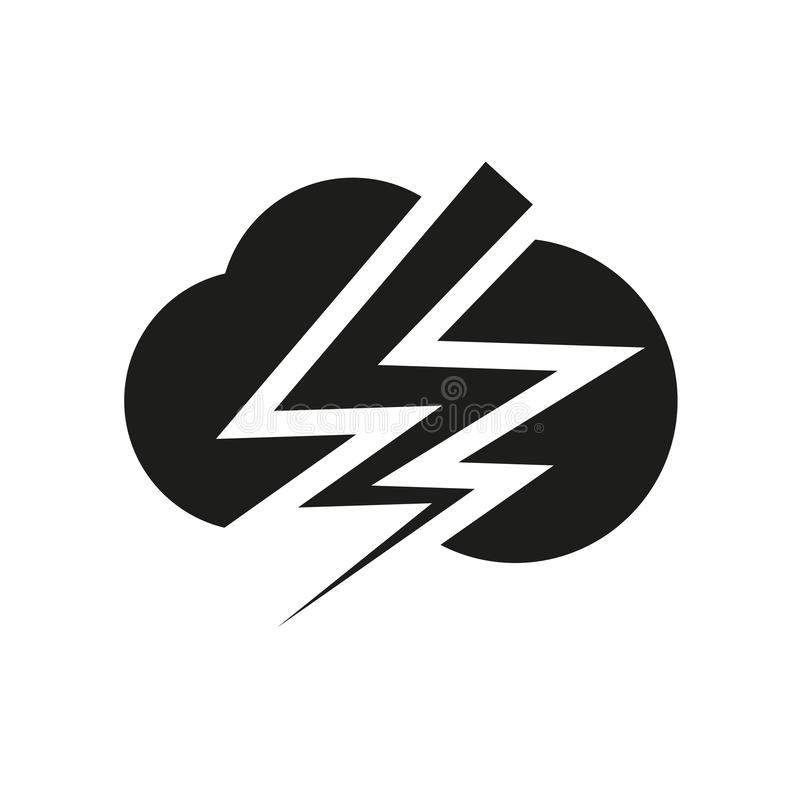 Thunderbolt icon. Trendy Thunderbolt logo concept on white background from Weather collection vector illustration