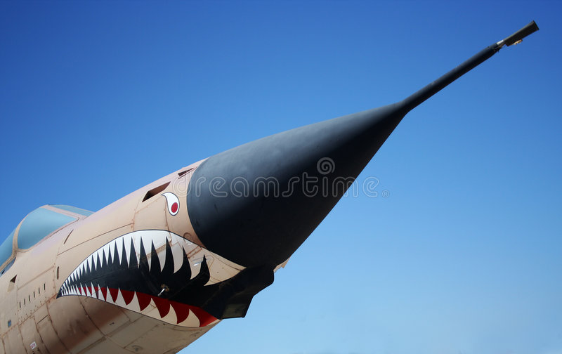 thunderchief f 105g wojownika. obraz royalty free
