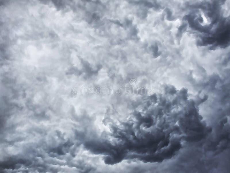 Thunderclouds, podeszczowe chmury fotografia stock