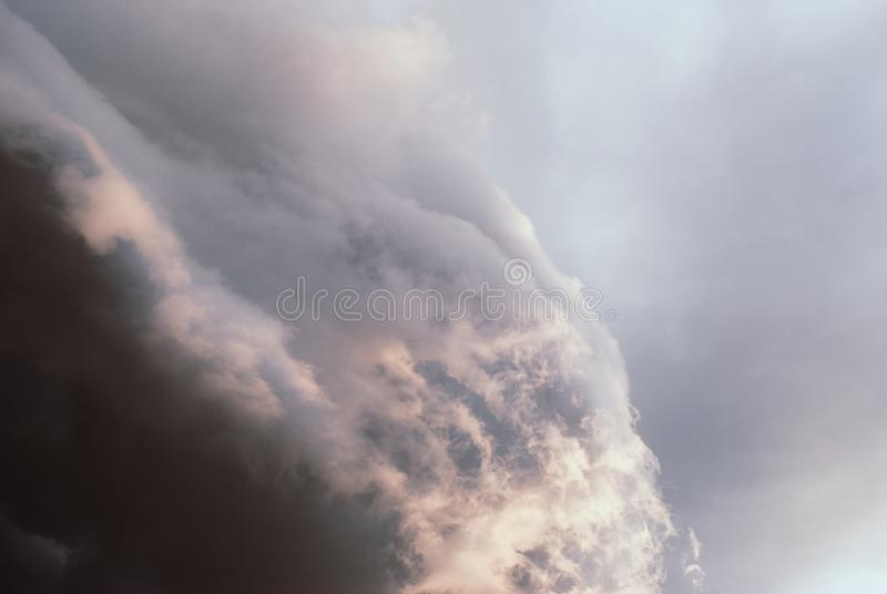 Thunderclouds before the storm. royalty free stock image