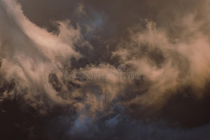 Thunderclouds before the storm. stock photos
