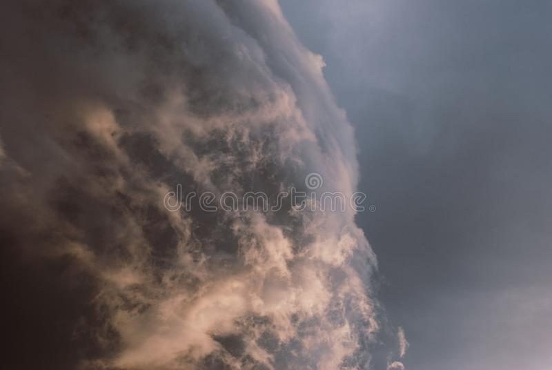 Thunderclouds before the storm. stock photography