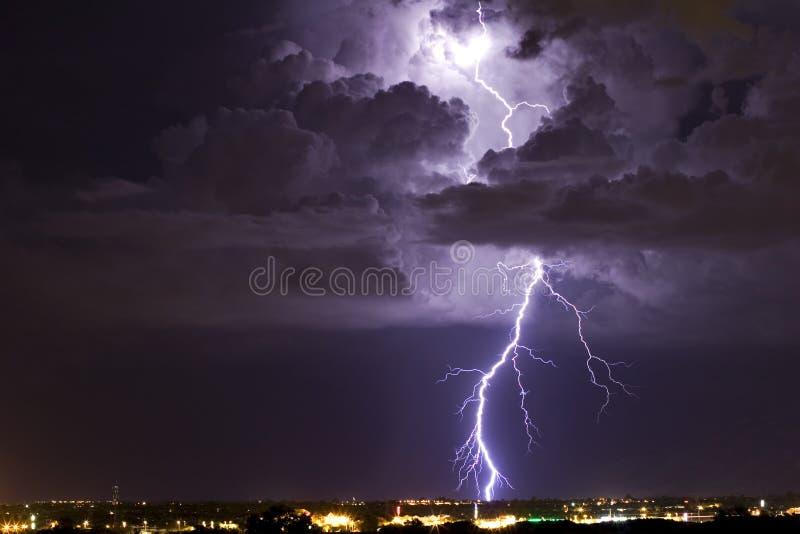 Thunderhead iluminado imagem de stock