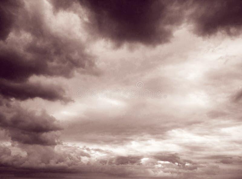 Thunderhead que está flutuando fotografia de stock